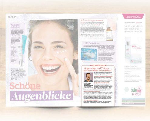 Behandlung von Augenringe und Tränenrinnen bei der Praxis Prager und Partner in Hamburg