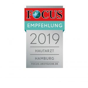 Focus_Empfehlung_Regiosiegel_2019_Hautarzt_Hamburg